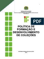 Politica de Desenvolvimento de Colecoes