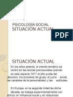 Situacion Actual de La Psicologia Social