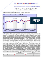 the ijg business climate monitor for april 2010