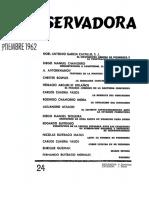 Revista Conservadora No. 24 Sep. 1962