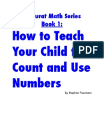 How to Teach Your Child to Count and Use Numbers