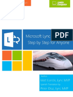 Microsoft Lync Server 2013 Step by Step for Anyone_Spanish