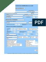 Planilla Excel de Correccion Persona Bajo La Lluvia