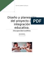 Diseño y Planeación Del Proyecto de Intervención Educativa