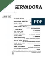 Revista Conservadora No. 21 Jun. 1962
