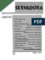 Revista Conservadora No. 27 Dic. 1962