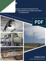 Compendio Proyectos Generación Transmisión Eléctrica Operación - Marzo 2016