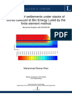 Estimation of Settlements Plaxis