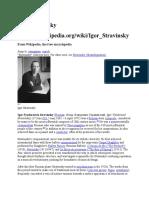 Igor Stravinsk Biografi
