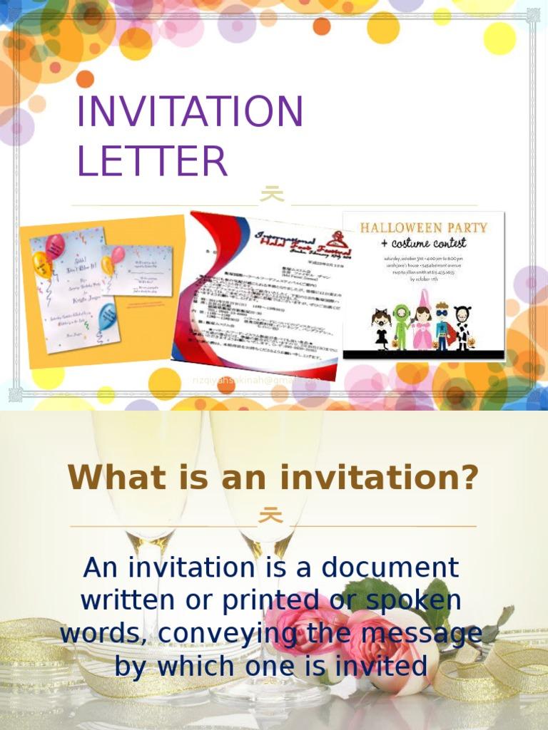 Formal Invitation Social Conventions