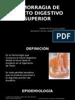 Hemorragia de Tracto Digestivo Superior