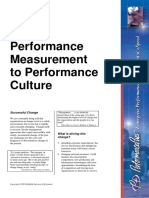 From Performance Measurement to Performance Culture
