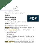 Ley Reguladora de La Investigacion Medica