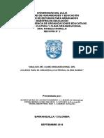 Trabajo Final de Cultura y Clima Organizacional