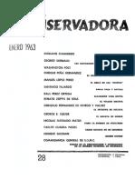 Revista Conservadora No. 28 Ene. 1963