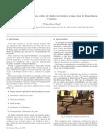 Estudo de equipamentos para coleta de dados necessários a uma obra de Engenharia Costeira