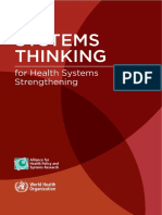 WHO-Systems Thinking for Health System