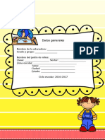 Plan Diagnóstico Tercer Grado Grado Preescolar