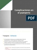 5.- Complicaciones en El Puerperio