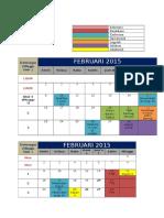 1 Kalender Terbaru Per Februari 2015
