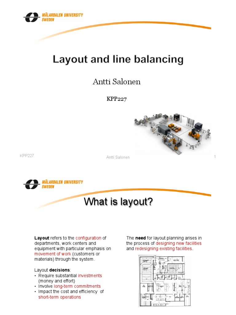 Le6layout line balancing machining industries pooptronica Choice Image