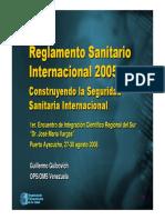 RSI 2005 - Construyendo Seguridad Sanitaria Internacional