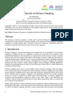 An Active Tutorial on Distance Sampling
