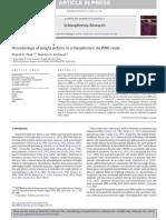 Neurobiology of Insight Deficits in Schizophrenia an FMRI Study
