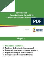 OEE Exportaciones-junio 2016 Consolidado