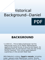 Historical Background--Daniel, August 19