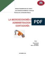La Microeconomía en La Administración y Contaduría