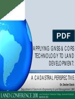 Dexter Davis Application of g Nss to Land