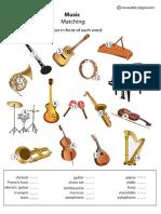 Music Instruments sheet