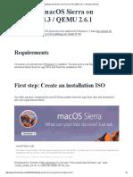 Installing MacOS Sierra on Proxmox 4.3