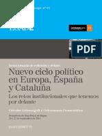 38. AA.vv. Nuevo Ciclo Político en Europa, España y Cataluña. Los Retos Institucionales Que Tenemos Por Delante