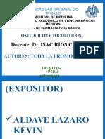 Exposicion de Oxitocicos y Tocoliticos