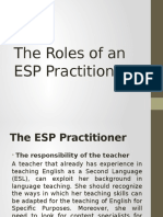 The Roles of an ESP Practitioner