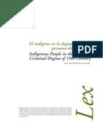 El Indígena en La Dogmática Penal Peruana Del Siglo XIX