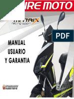 Manual de Usuario Matrix Racing Sport 150 2010