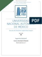 Serie 1 CyTdM Ejercicios Ciencia y Tecnología de Materiales