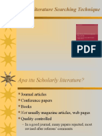 Literature Searching Strategy