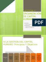 Gestión y Organización de Capital Humano
