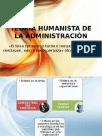 Teoría Humanista de La Administración