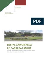 Aniversario 103 años Sagrada Familia Apia Risaralda