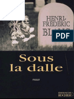 Blanc Frederic - Sous La Dalle