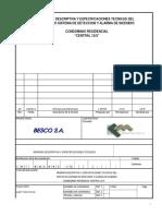 Mmdd Sistema de Alarma Contra Incendio Condominio Reidencia Central 10.5