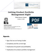 Getting Product Portfolio Management Right