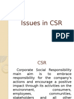 Issues in Csr