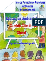 Educacion Ambiental y Cambio Climatico Global Guillermo Saldana