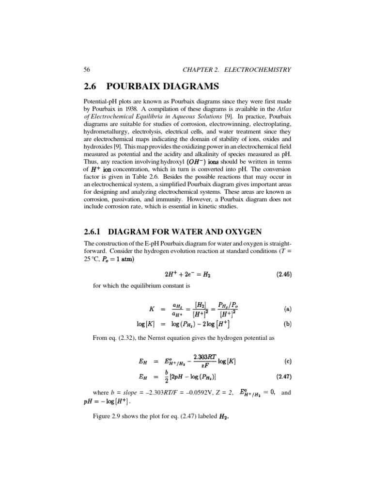Diagrama o2 h2 pourbaix electrochemistry ph ccuart Gallery